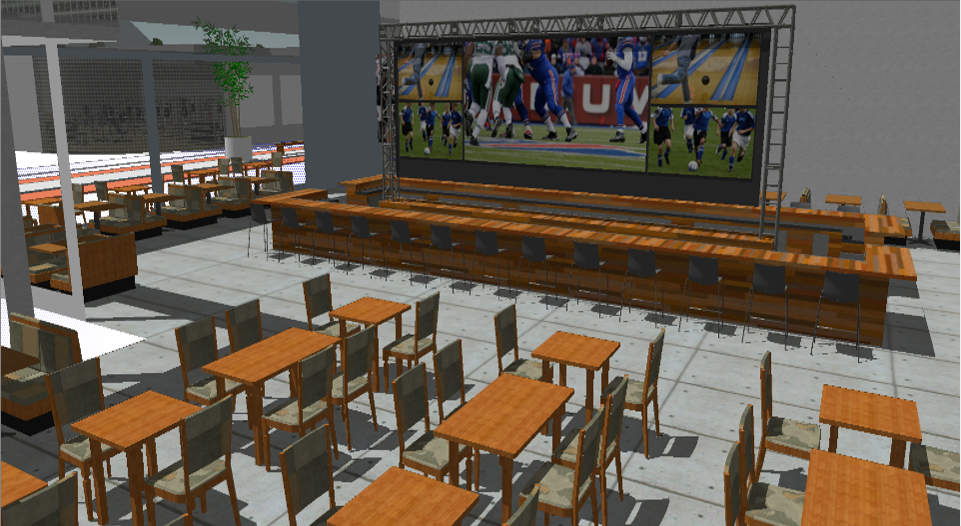 Conceptual Design for Sports Bar Restaurant